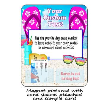 Door Key Card Holder Magnet - Holds 2 cards.  (006)