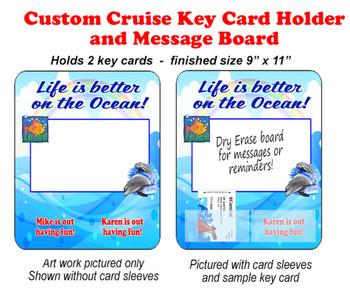 Door Key Card Holder Magnet - Holds 2 cards.  (007)