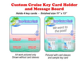 Door Key Card Holder Magnet - Holds 4 cards.  (001