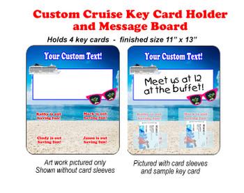 Door Key Card Holder Magnet - Holds 4 cards.  (002