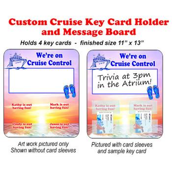Door Key Card Holder Magnet - Holds 4 cards.  (003