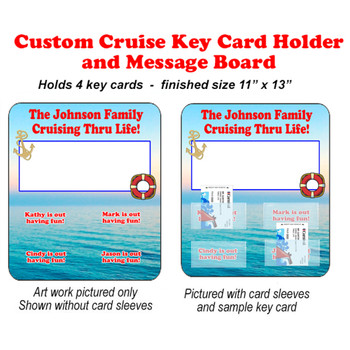Door Key Card Holder Magnet - Holds 4 cards.  (004