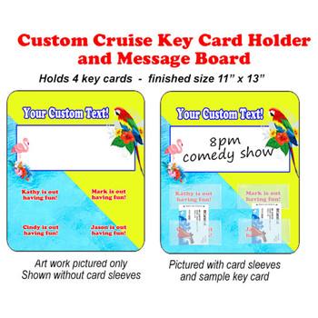 Door Key Card Holder Magnet - Holds 4 cards.  (005