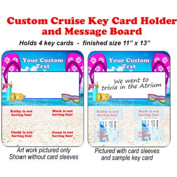 Door Key Card Holder Magnet - Holds 4 cards.  (006