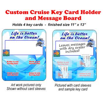 Door Key Card Holder Magnet - Holds 4 cards.  (007