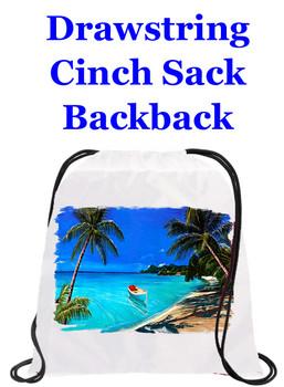 Cruising theme drawstring back pack - design 013