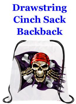 Cruising theme drawstring back pack - design 035