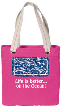 Cruise theme tote bag with colorful design - (003)
