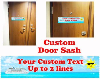 Cruise cabin custom door sash - custom 002
