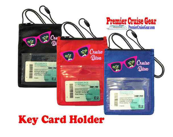 Cruise Card Holder - Choice of color. Design 007