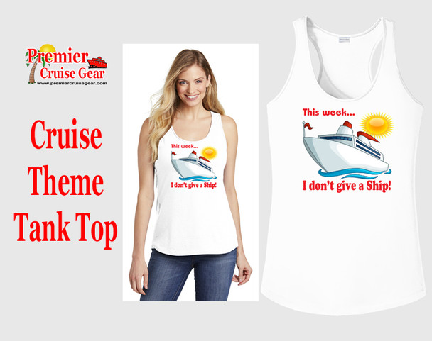 Cruise theme tank top - Give a ship