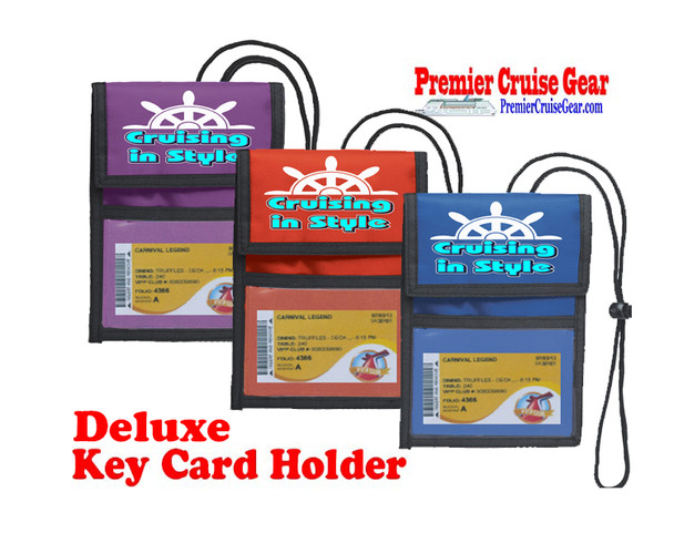 Cruise Card Holder Deluxe - Choice of color - 060