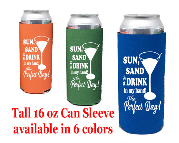 Cruise themed Tall Can sleeve.  Choice of color and custom option available.  Design 011
