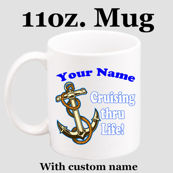 Cruise & Beach theme Custom 11 oz. mug.  Great gift for friends & family or as a special memento for you!  (001)