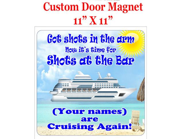 """Cruise Ship Door Magnet - 11"""" x 11"""" - shots 1"""