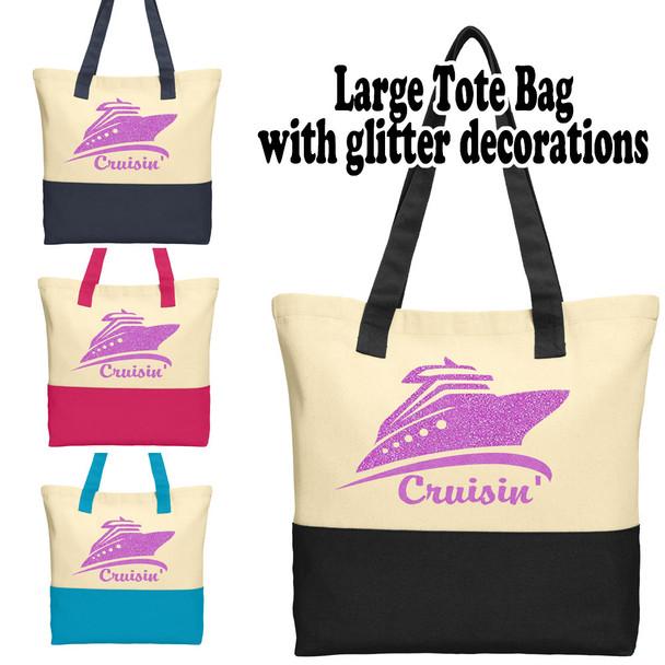 Cruise and Beach Tote Bag -Cruisin