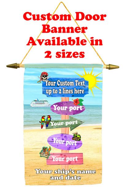Cruise Ship Door Banner - sign post