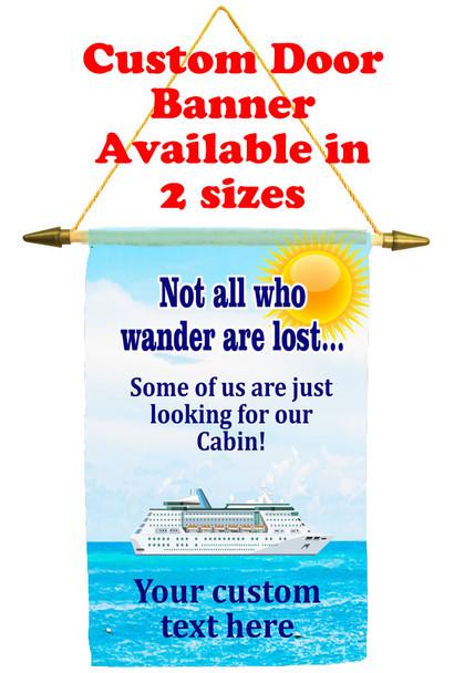 Cruise Ship Door Banner - wander