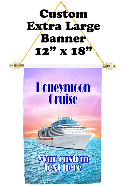 Cruise Ship Door Banner - Extra-Large Banner - Honeymoon
