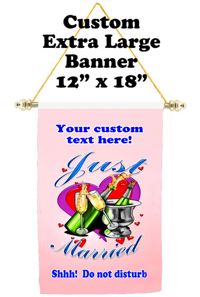 Cruise Ship Door Banner - Extra-Large Banner - Just Married 2