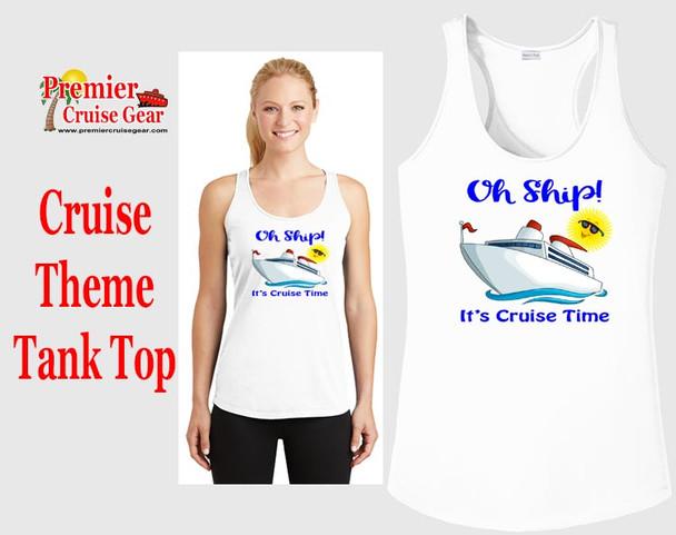 Cruise theme tank top - Oh Ship