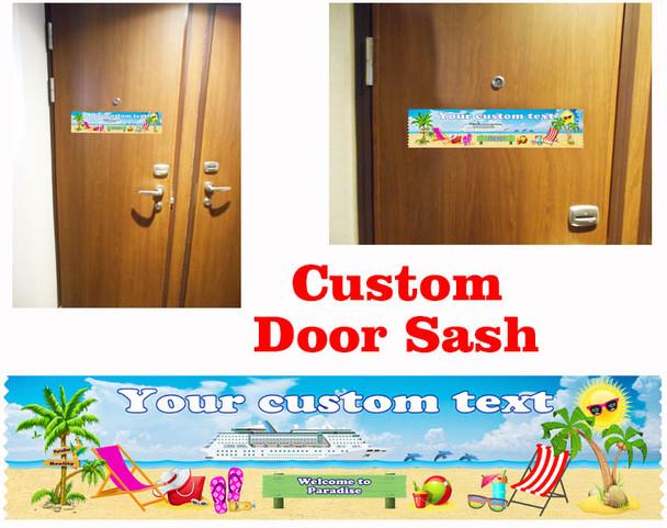 Cruise cabin custom door sash - custom 001