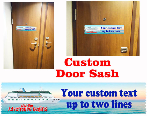 Cruise cabin custom door sash - custom 003