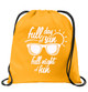 Cruise & Beach theme drawstring back pack - design 004