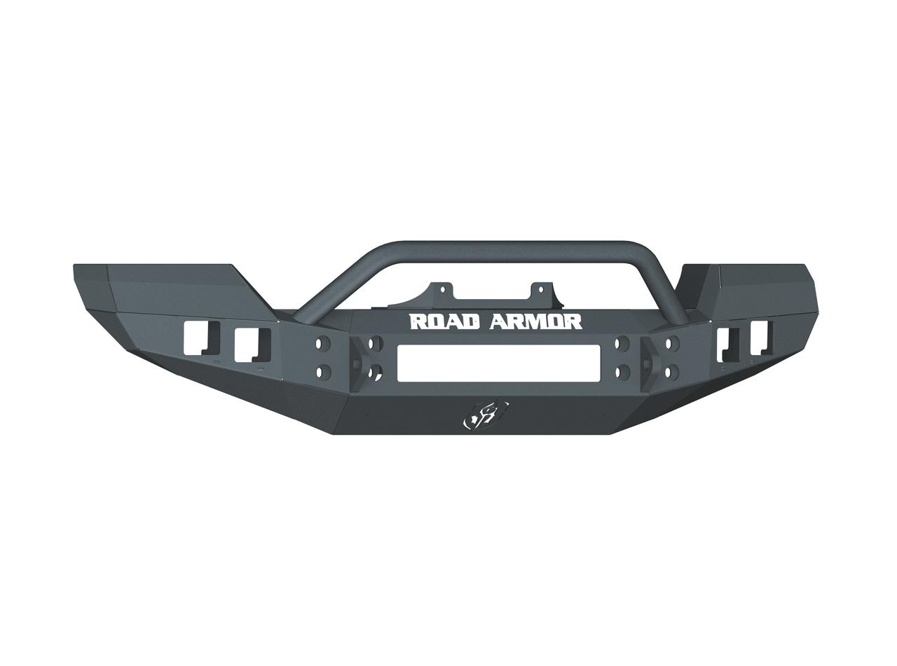Road Armor Stealth Front Bumper W/ Pre-Runner Guard For 07-18 Jeep Wrangler JK - 512R4B