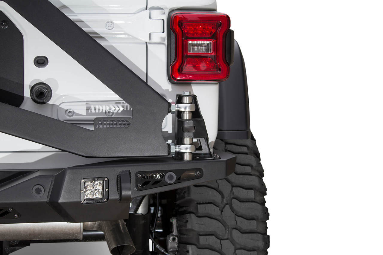 Buy Online Addictive Desert Designs Stealth Fighter Tire Carrier For White Jeep Sahara Lifted With And Led Tail Lights 2018 Wrangler Jl T96912na01na