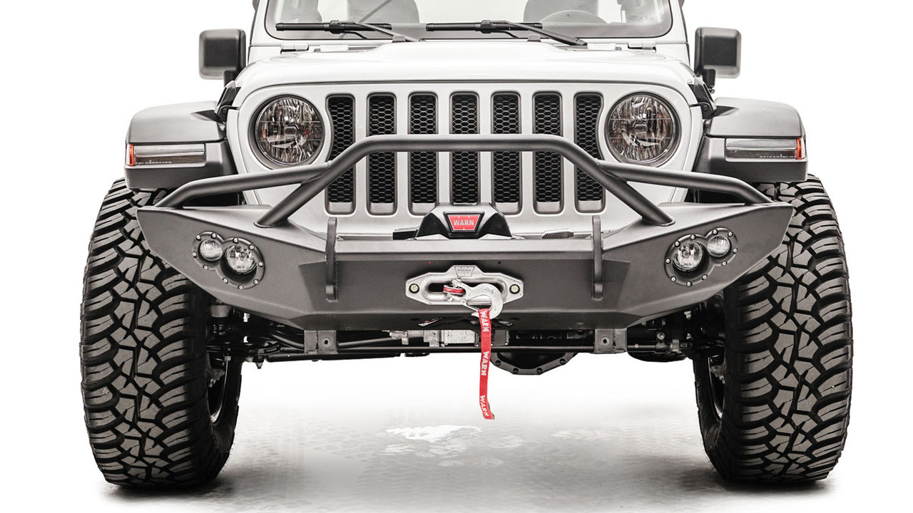 Fab Fours Lifestyle Winch Front Bumper For 18-19 Jeep Wrangler JL - JL18-B4652-1