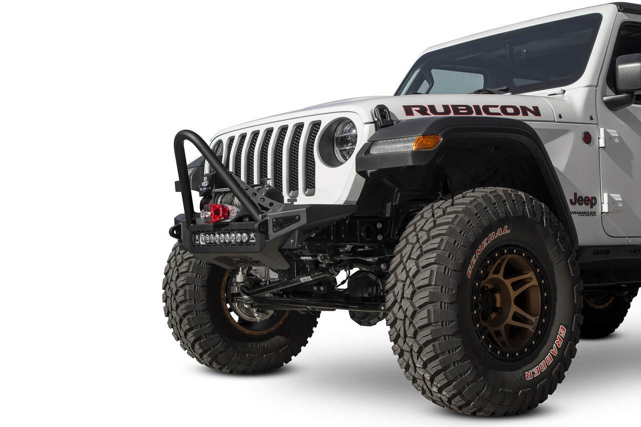 ADD Rock Fighter Stinger Winch Front Bumper For Jeep JL/JT - F964952080103