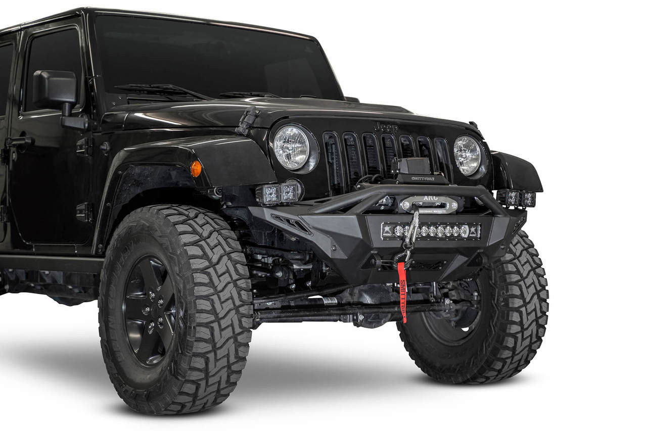 ADD Stealth Fighter Winch Front Bumper For 07-18 Jeep Wrangler JK - F951232080103