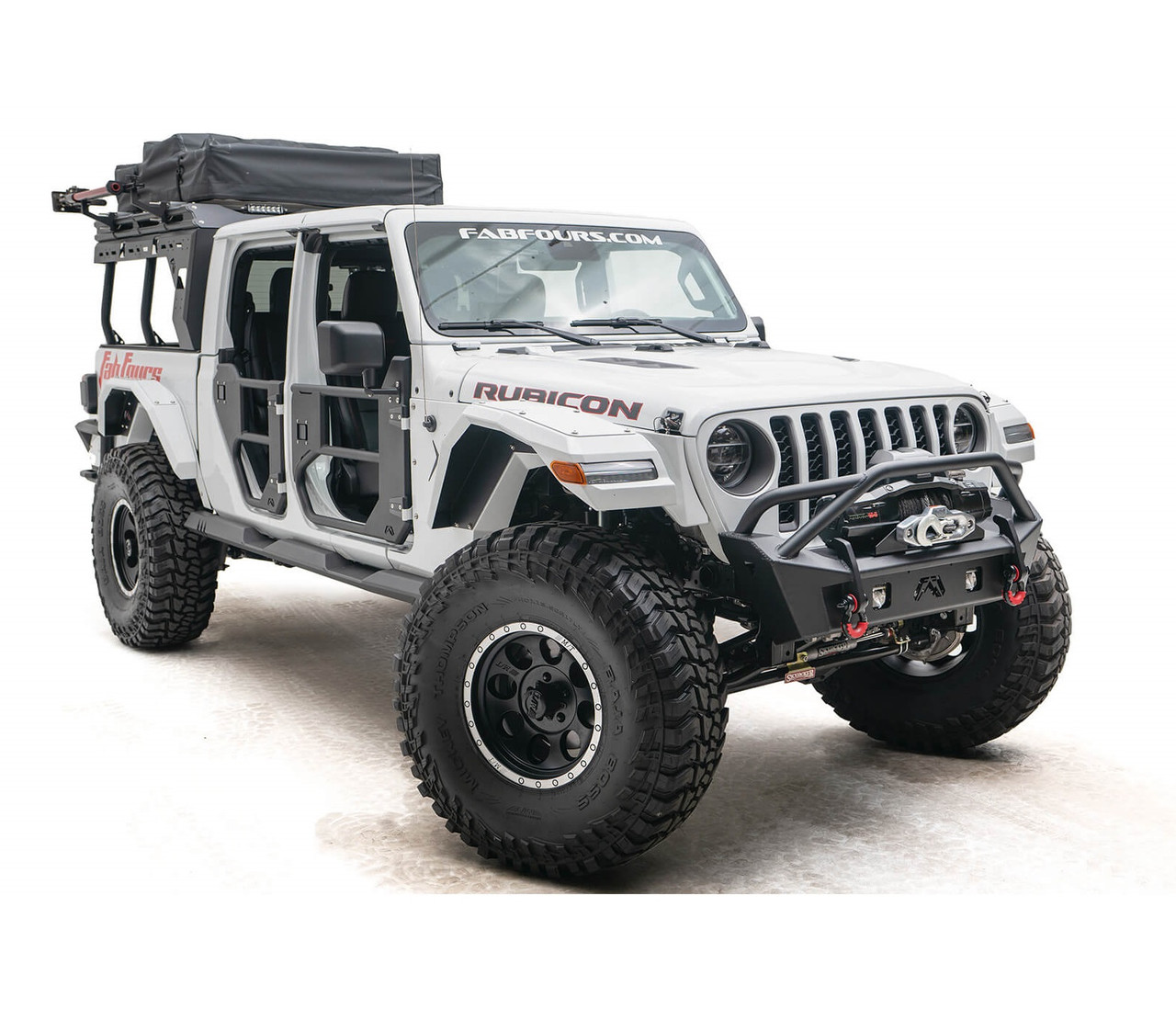 Fab Fours Stubby Pre-Runner Guard Front Bumper For Jeep Wrangler JL / Gladiator JT - JL18-B4752-1