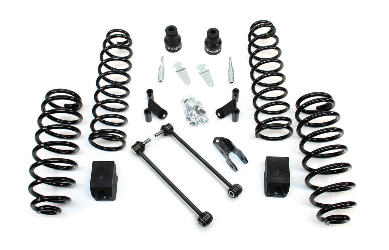 "TeraFlex 2.5"" Lift Kit W/ Shocks Extensions For 07-18 Jeep Wrangler JK 4 Doors - 1352000"