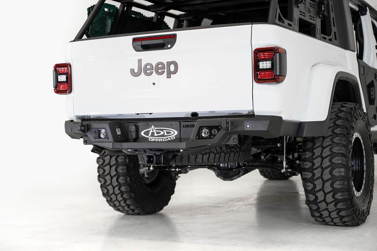 ADD Stealth Fighter Rear Bumper W/ Backup Sensors For 2020 Jeep Gladiator JT - R971241280103