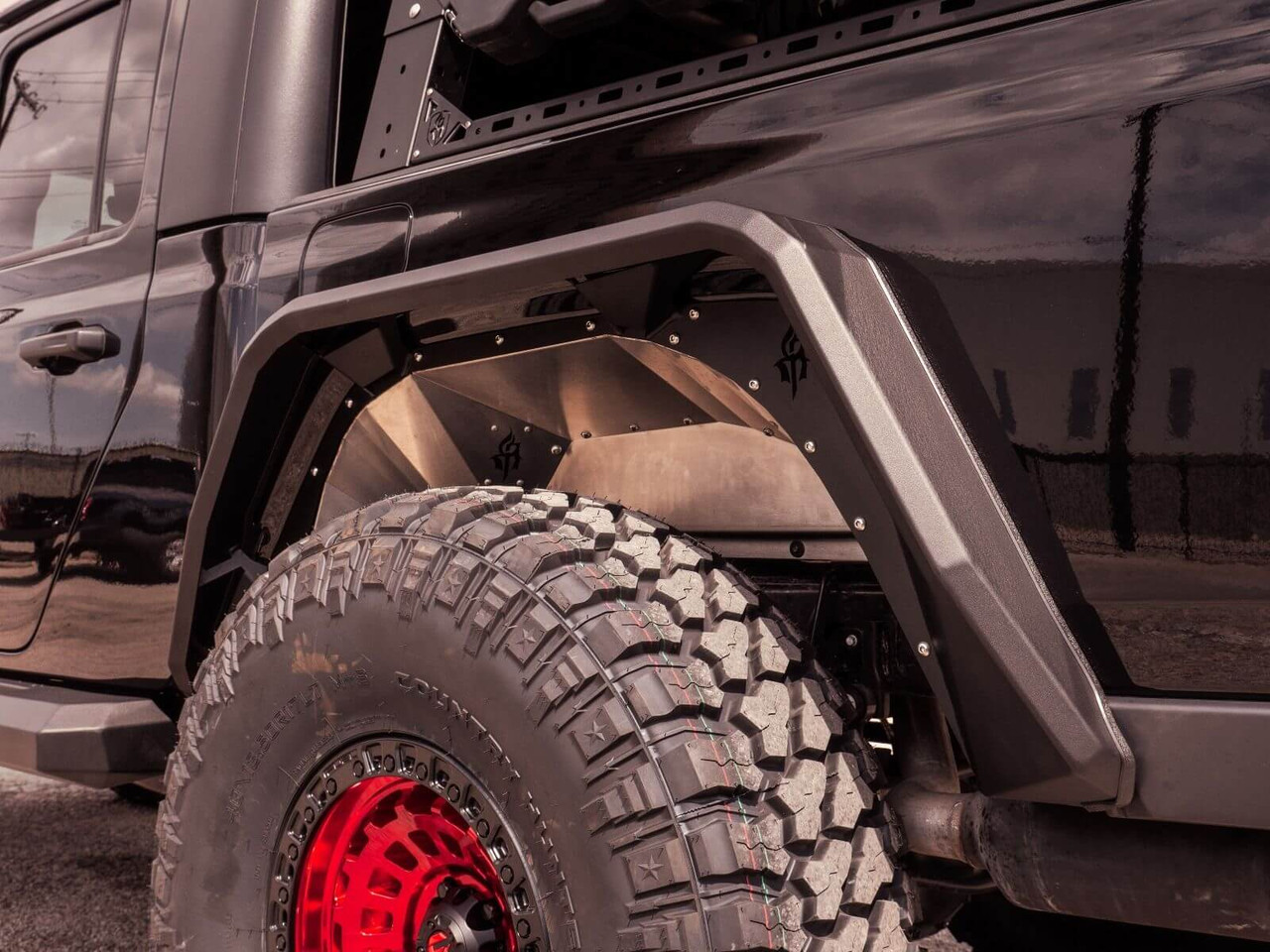 Road Armor Stealth Rear Fender Flare For 2020 Jeep Gladiator 520afr0b Rear Fenders Fenders Road Armor 4x4 Parts Off Road Parts Rd Off Road