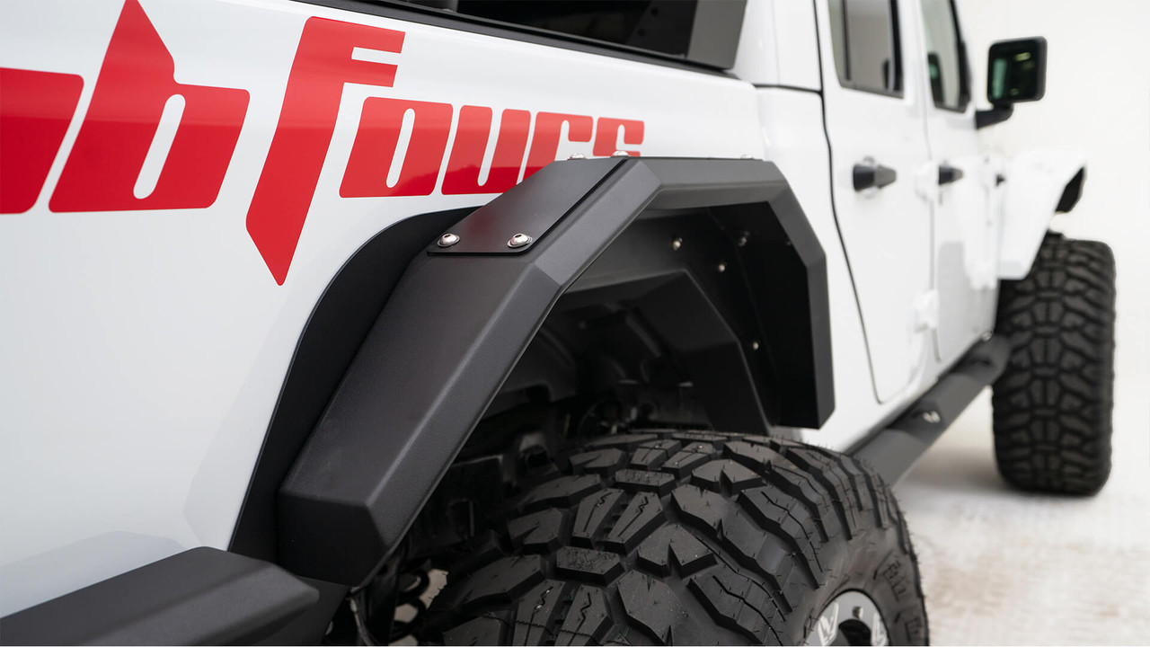 Fab Fours Rear Fender System For 2020 Jeep Gladiator Jt Jt1001 1 Rear Fenders Fenders Fab Fours 4x4 Parts Off Road Parts Rd Off Road