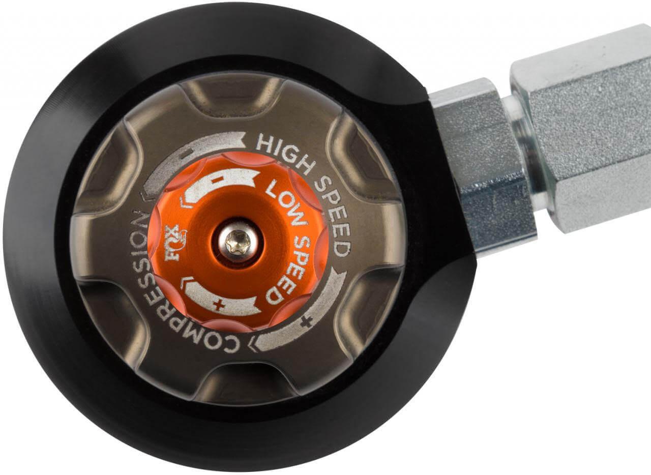 """Fox 2.5 Front Reservoir Adjustable Shocks 3.5-4"""" For Jeep Wrangler JL - 883-26-051"""
