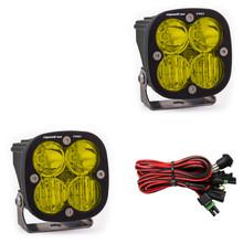 Baja Designs Squadron Pro Pair Driving Combo Amber LED Light - 497813