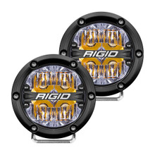 Rigid 360-Series 4in LED Off-Road Drive Beam W/ Amber Backlight - 36118