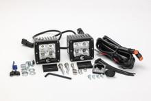 "KC HiLiTES 3"" C-Series C3 Flood LED Lights Pair Pack System - 332"