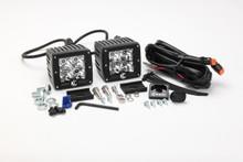 "KC HiLiTES 3"" C-Series C3 Spot Amber LED Lights Pair Pack System - 315"
