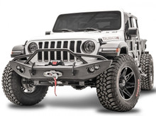 Fab Fours Lifestyle Front Bumper With Guard For 18-20 Jeep Wrangler JL/Gladiator - JL18-B4652-1
