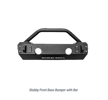 Iron Cross Stubby Front Base Bumper With Bar for 2018+ Jeep Wrangler JL - GP-1202