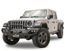Fab Fours Matrix Front Bumper W/ Pre-Runner Guard For 18-20 Jeep Wrangler JL / Gladiator JT - JL18-X4652-1
