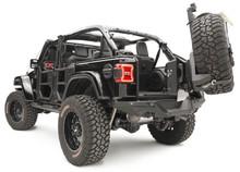 Fab Fours Slant Back Tire Carrier For Jeep Wrangler JL - JL2070-1