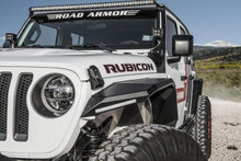 Road Armor Stealth Front Fender Flare W/ Switchback LED For Jeep JL/JT - 518AFF0B