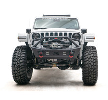 Fab Fours Stubby Front Bumper With Pre-Runner Guard For 18-20 Wrangler JL/Gladiator - JL18-B4752-1