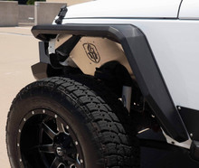 Road Armor Stealth Front Fender Flare W/ Switchback LED DRL For 07-18 Jeep Wrangler JK - 507AFF0B